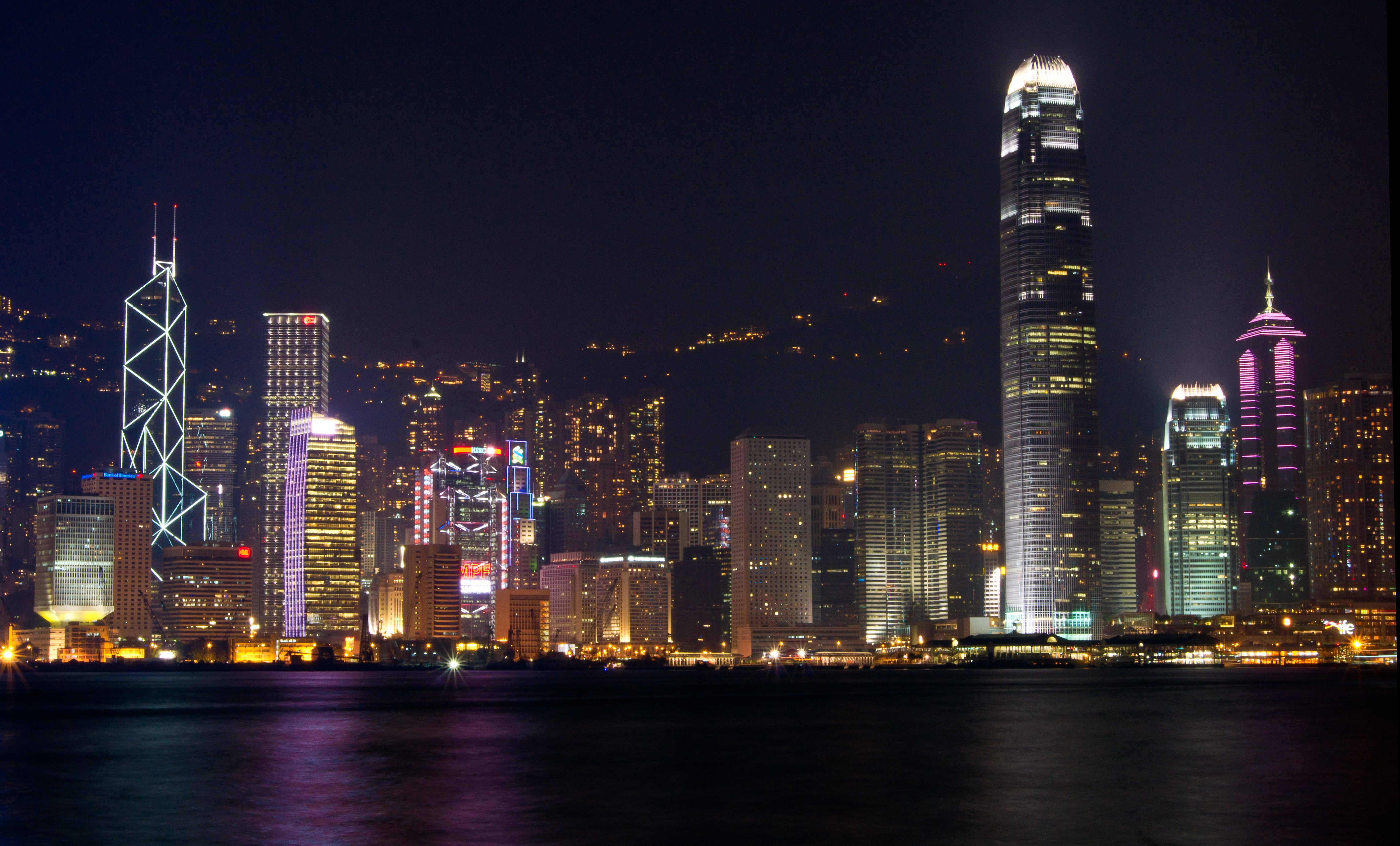 night city view hongkong singapore and jakarta taufik